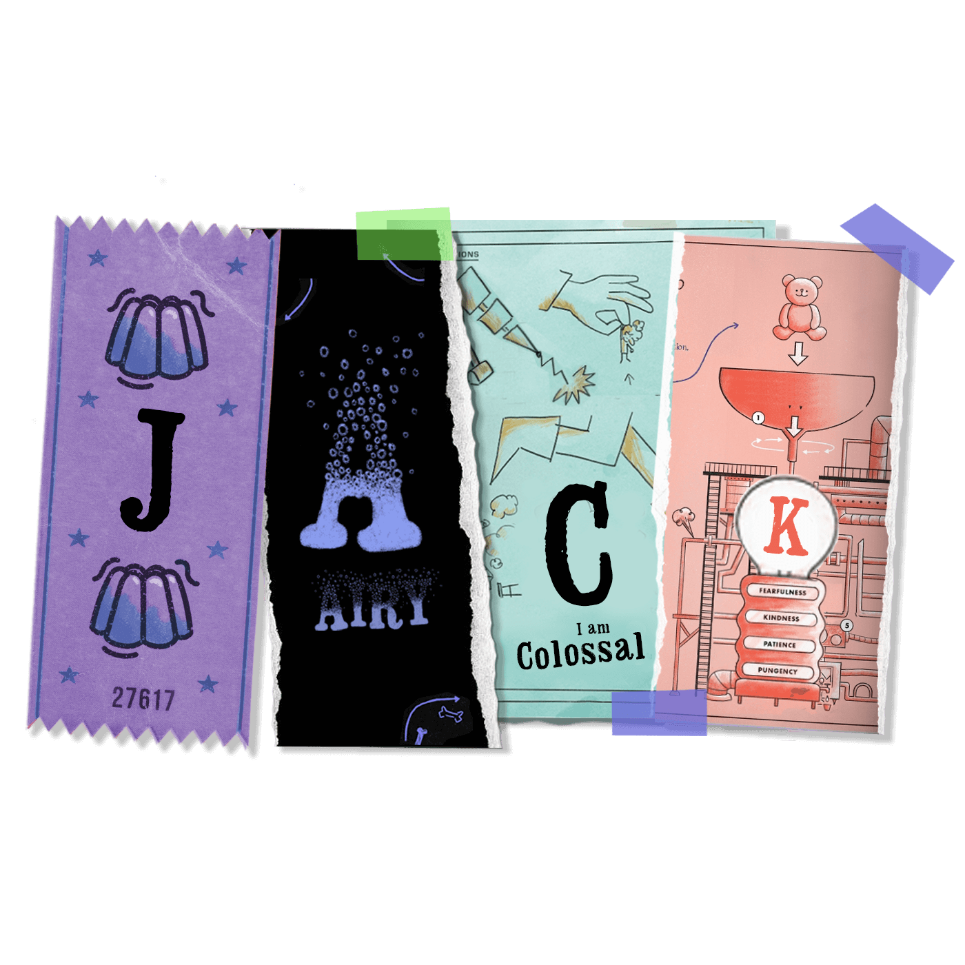 JACK sweets and postcard wrapping